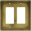 betsyfieldsdesign 2-Gang Antique Brass Decorator Rocker Metal Wall Plate