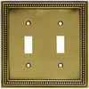 betsyfieldsdesign 2-Gang Antique Brass Standard Toggle Metal Wall Plate