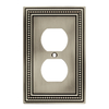 Brainerd 1-Gang Brushed Satin Pewter Single Round Wall Plate