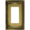 betsyfieldsdesign 1-Gang Antique Brass Decorator Rocker Metal Wall Plate