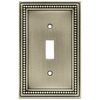 Brainerd 1-Gang Brushed Satin Pewter Standard Toggle Metal Wall Plate