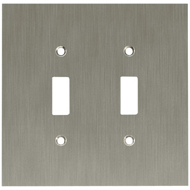 betsyfieldsdesign 2-Gang Brushed Nickel Plated Standard Toggle Metal Wall Plate