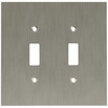 betsyfieldsdesign 2-Gang Brushed Nickel Plated Toggle Wall Plate