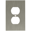 betsyfieldsdesign 1-Gang Brushed Nickel Plated Round Wall Plate