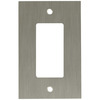 betsyfieldsdesign 1-Gang Brushed Nickel Plated Decorator Rocker Metal Wall Plate