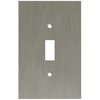 betsyfieldsdesign 1-Gang Brushed Nickel Plated Standard Toggle Metal Wall Plate