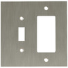 betsyfieldsdesign 2-Gang Brushed Nickel Plated Decorator Rocker Metal Wall Plate