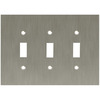 betsyfieldsdesign 3-Gang Brushed Nickel Plated Standard Toggle Metal Wall Plate