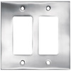 betsyfieldsdesign 2-Gang Chrome Decorator Rocker Metal Wall Plate