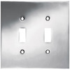 betsyfieldsdesign 2-Gang Chrome Standard Toggle Metal Wall Plate