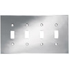 betsyfieldsdesign 4-Gang Chrome Standard Toggle Metal Wall Plate