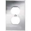 betsyfieldsdesign 1-Gang Chrome Standard Duplex Receptacle Metal Wall Plate
