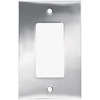 betsyfieldsdesign 1-Gang Chrome Decorator Rocker Metal Wall Plate