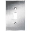 betsyfieldsdesign 1-Gang Chrome Standard Toggle Metal Wall Plate