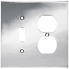 betsyfieldsdesign 2-Gang Chrome Standard Duplex Receptacle Metal Wall Plate