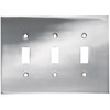 betsyfieldsdesign 3-Gang Chrome Standard Toggle Metal Wall Plate