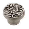 betsyfieldsdesign Brushed-Satin Pewter Round Cabinet Knob