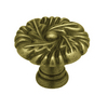 "betsyfieldsdesign 1-3/8"" Tumbled Antique Brass Round Cabinet Knob"