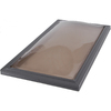 Sun-Tek 22.5 x 46.5 Sun-Tek Fixed Curb Mount Skylight with Impact Resistant Bronze over Clear Polycarbonate Double Dome