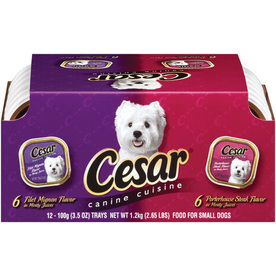 CESAR 12-Pack 3.5 oz Filet and Porterhouse Adult Dog Food Variety Pack