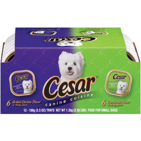 CESAR 12-Pack 3.5-oz Sirloin and Chicken Adult Dog Food Variety Pack