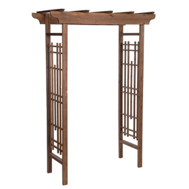 Matthews Four Seasons 59-in W x 83.125-in H Espresso Rose Petal Garden Arbor