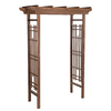 Matthews Four Seasons 59-in W x 83.13-in H Espresso Rose Petal Garden Arbor