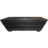 Matthews Four Seasons 13-in H x 31-in W x 13-in D Black Wood Window Box