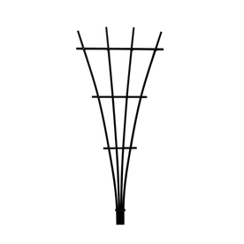 Matthews Four Seasons 5.25-in W x 72-in H Black Fan Garden Trellis