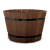 Matthews Four Seasons 12.75-in H x 19.25-in W x 19.25-in D Espresso Wood Planter