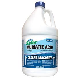 how to clean brick patio with muriatic acid