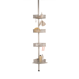 allen + roth 108-in H Screw Mount Steel Hanging Shower Caddy