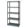 Plano 73.75-in H x 36-in W x 18-in D 5-Tier Plastic Freestanding Shelving Unit