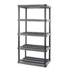 Plano 73-3/4-in H x 36-in W x 24-in D 5-Tier Plastic Freestanding Shelving Unit