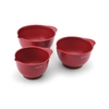 KitchenAid Red Set of Three Mixing Bowls