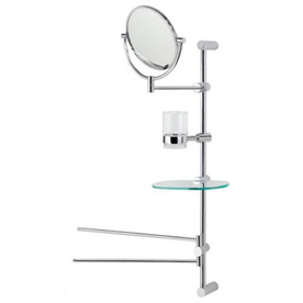 :USE 7-in H x 7-in W Bollard Round Frameless Bathroom Mirror with Polished Edges