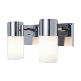 Shop :USE 2-Light Brushed Nickel Bathroom Vanity Light at Lowes.com