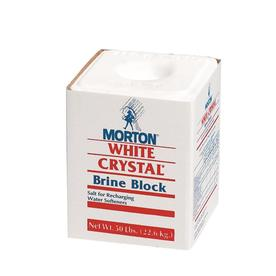 Morton 50-Lb. White Crystal Brine Block