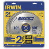 IRWIN 2-Piece Circular Saw Blade Set