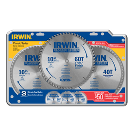 IRWIN 10-in 60-Tooth and 40-Tooth Circular Saw Blade Set