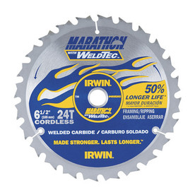 IRWIN Marathon with Weldtec 6-1/2-in 24-Tooth Circular Saw Blade