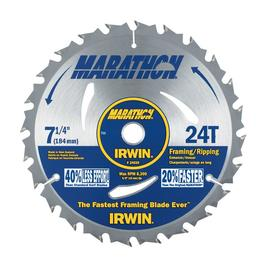 IRWIN MARATHON Marathon 7-1/4-in 24-Tooth Circular Saw Blade