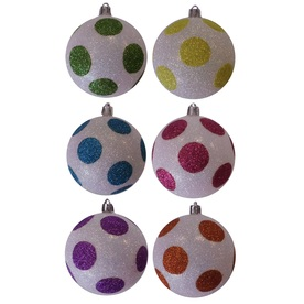 Holiday Living 6-Pack White Ornament Set