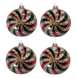 Holiday Living 4-Pack Clear, Red, and Green Ornament Set