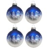 Holiday Living 4-Pack Blue and Silver Ornament Set