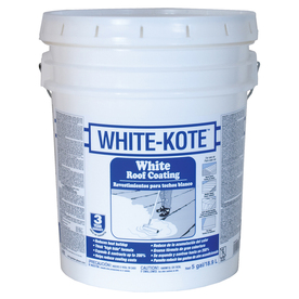 Shop White Kote 5 Gallon Elastomeric Reflective Roof Coating 3 Year Limited Warranty At