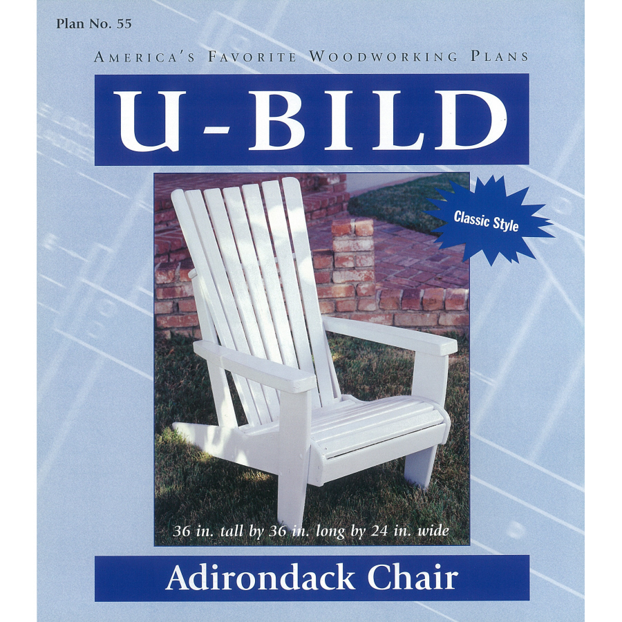 Shop U-Bild Adirondack Chair Woodworking Plan at Lowes.com