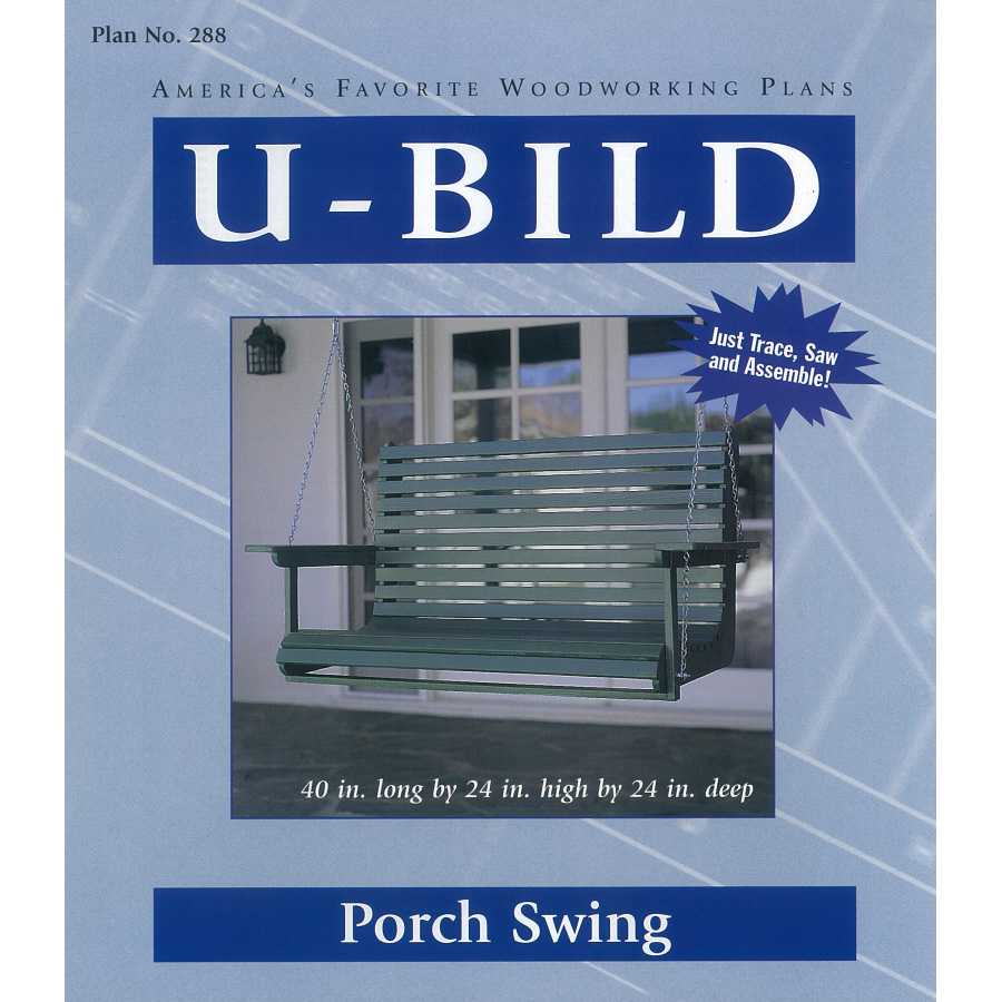Shop U-Bild Porch Swing Woodworking Plan at Lowes.com