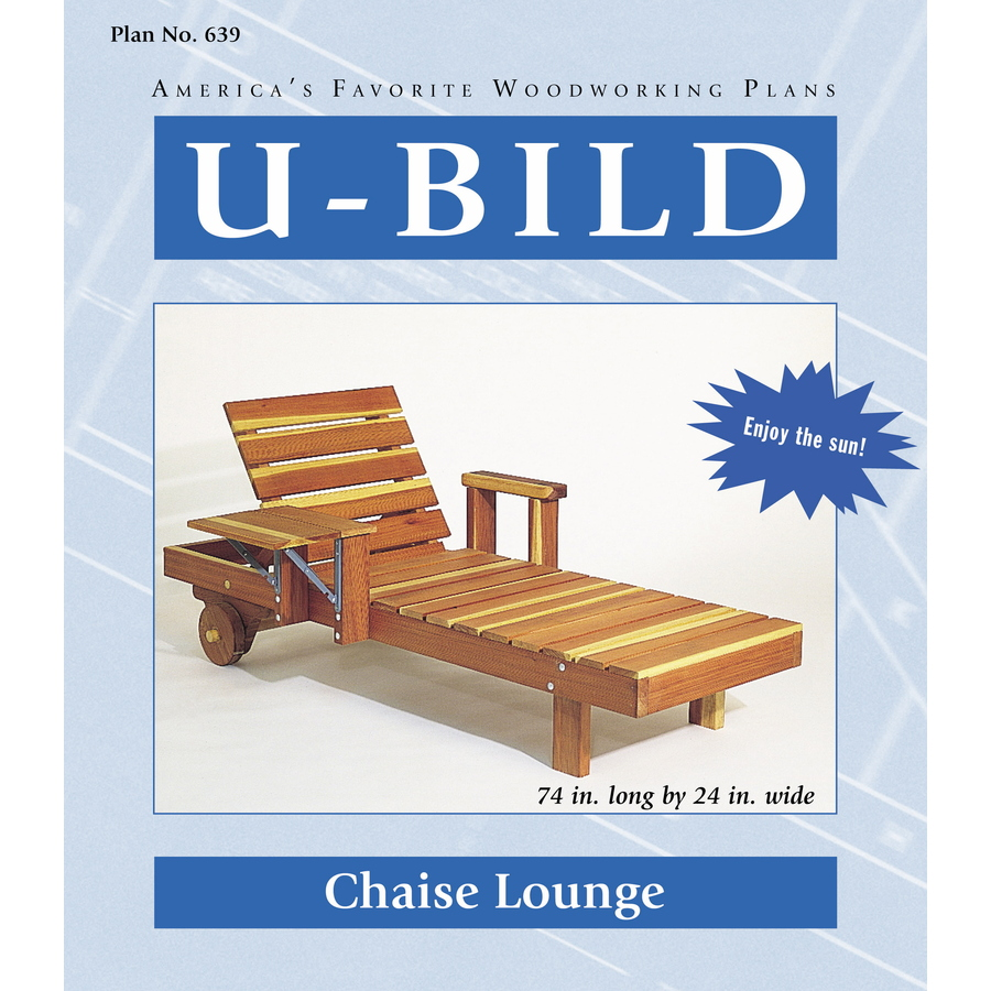 Shop u bild chaise lounge woodworking plan at for Chaise lounge building plans