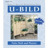 U-Bild Patio Wall and Planter Woodworking Plan